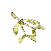 DRUID CELTIC MISTLETOE, PENDANT, 14K GOLD - GOLDEN JEWELLERY