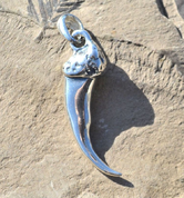 WOLF CLAW, PENDANT, STERLING SILVER - MYSTICA SILVER COLLECTION - PENDANTS