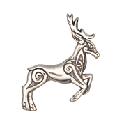 CELTIC DEER - HERNE, STERLING SILVER PENDANT - MYSTICA SILVER COLLECTION - PENDANTS