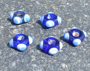 CELTIC HANDMADE GLASS BEAD, MUSEUM REPLICA V8 - HISTORICAL GLASS BEADS, REPLICA