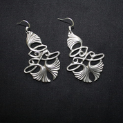 ART NOUVEAU TIN EARRINGS - COSTUME JEWELLERY