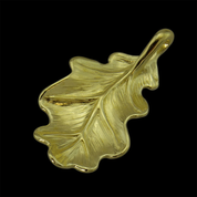 OAK LEAF, PENDANT, 14K GOLD - GOLDEN JEWELLERY