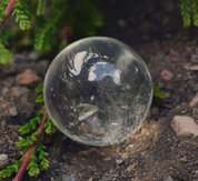 QUARTZ CRYSTAL SPHERE, SMALL - DECORATIVE MINERALS AND ROCKS