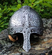 NORMAN NASAL HELMET DECORATED WITH PATINA - VIKING AND NORMAN HELMETS