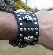 ROCKER, LEATHER BRACELET XXV - WRISTBANDS
