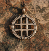 BALTIC SUN, BRONZE PENDANT - PENDANTS, NECKLACES