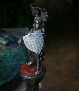 KNIGHT WITH A SWORD, XIII. CENTURY, TIN FIGURE - PEWTER FIGURES
