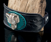 WARG - VIKING WOLF LEATHER BRACELET - WRISTBANDS