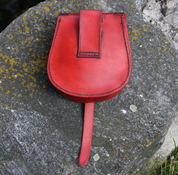 VENDEL, VIKING LEATHER BAG, RED - BAGS, SPORRANS