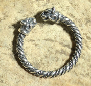 CELTIC CAT, STERLING SILVER RING - PENDANTS - HISTORICAL JEWELRY