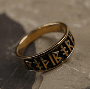 RUNIC RING FROM BRONZE - BRONZE HISTORICAL JEWELS