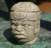 OLMEC HEAD, SAN LORENZO TENOCHTITLAN, SCULPTURE, REPLICA - AMERICA - INCAS, MAYA AND AZTECS