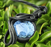BLUE GLASS PENDANT - FANTASY JEWELS
