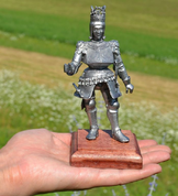 RUDOLF II, HOLY ROMAN EMPEROR, HISTORICAL TIN STATUE - LARGE - PEWTER FIGURES