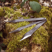 PIRANHA NO-RELOAD THROWING KNIVES, SET OF 3 - SHARP BLADES - THROWING KNIVES