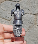 SUIT OF ARMOR, TIN FIGURE - PEWTER FIGURES