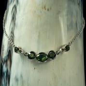 ELARA, MOLDAVITE, NECKLACE, SILVER - MOLDAVITES, CZECH JEWELS