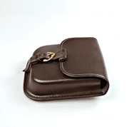 GENTLEMAN, LEATHER BELT BAG - BROWN - BAGS, SPORRANS