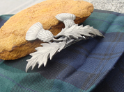 SCOTTISH THISTLE HAIRCLIP, PEWTER - COSTUME JEWELLERY