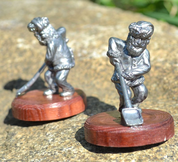 DWARF WITH A SHOVEL, HISTORICAL TIN STATUE - PEWTER FIGURES
