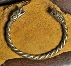 VIKING WOLF, bracelet from Burg, Sweden, tin