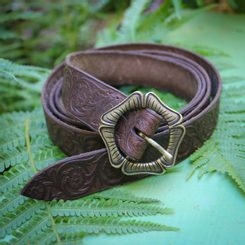 ALBION, brown Leather Belt