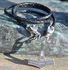 THOR's HAMMER, Romersdal, necklace, sterling silver 925, 22 g.