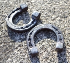 FORGED LITTLE HORSESHOE FOR LUCK