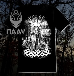 VELES, Slavic God, men's T-Shirt black and white