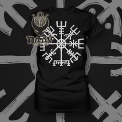 VEGVÍSIR, ladies' T-Shirt NAAV black