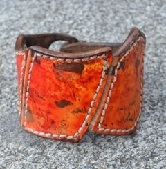 HELIOS, handcrafted leather wristband
