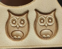 OWL, leather stamp