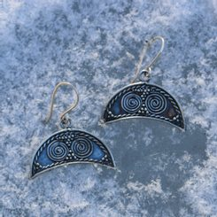 LUNITSA Silver Earrings Great Moravia