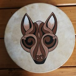 Pagan Wolf, shamanic drum