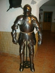 CUSTOM SUIT OF ARMOUR, polished plate armor, 1.5 mm