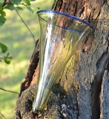 VIKING CONE BEAKER, glass, replica from Birka