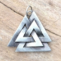 VALKNUT, viking pendant, tin alloy