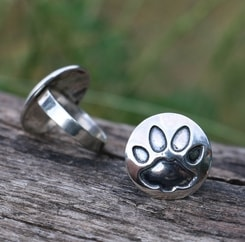 Cat's Footprint, silver Ring
