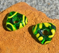 CELTIC HANDMADE GLASS BEAD, museum replica v5