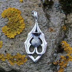 ALBA - Scottish thistle, pendant, silver