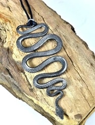 VIPERA, hand forged snake pendant