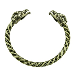 CELTIC DRAGON, brass bracelet