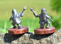 DWARF DURING MINING, historical tin statue