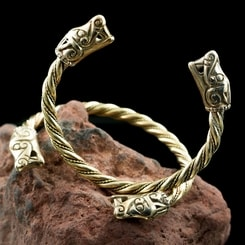 VIKING WOLF, bracelet from Burg, Sweden, bronze