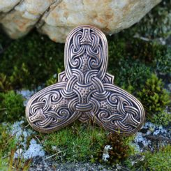 VIKING TREFOIL Bronze Brooch