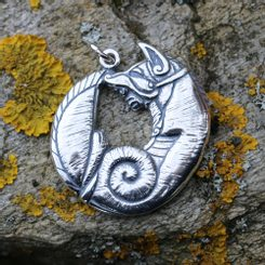 CELTIC FOX, Silver Pendant