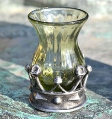 CAROLINA, historical glass goblet, decorative replica