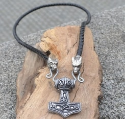 Tin THOR'S HAMMER, Erikstorp, Sweden, necklace