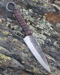 CRUACHAN, Celtic Hand Forged Knife brown