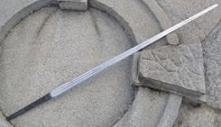 BLADE FOR HAND AND A HALF SWORD, with two fullers